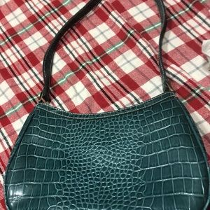 Liz Claiborne, teal purse, new, cream lining.
